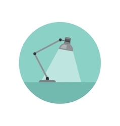 Lamp flat icon vector