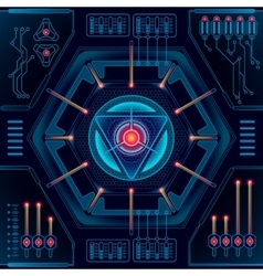 Abstract future technology concept background vector