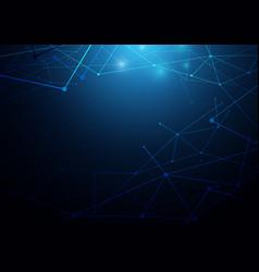 Abstract futuristic molecules circuit board vector