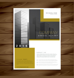 Annual report brochure template for your company vector