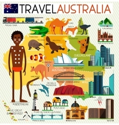 Australia Travel Set vector image vector image