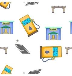 City buildings pattern cartoon style vector