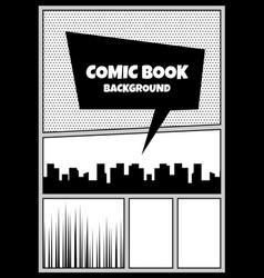 comic book pop art monochrome mock up vector image vector image