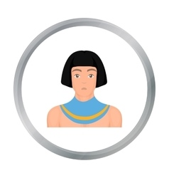 Egyptian man icon in cartoon style isolated on vector