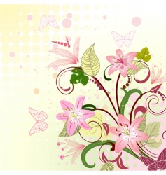 floral pattern with lilies vector image vector image