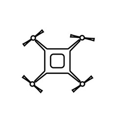 four screw flying drone linear icon vector image
