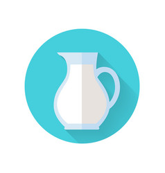 glass jug with milk isolated on white background vector image vector image