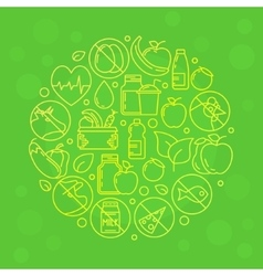 Green vegetarian vector