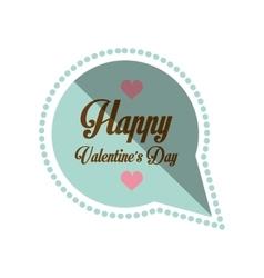 Happy valentines day card bubble hearts shadow vector