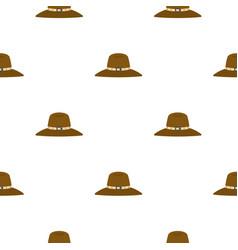 Hat pattern flat vector