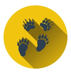 Icon of bear trails vector