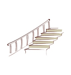 icon stairs vector image
