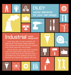 Industrial tools background vector