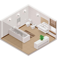 isometric bathroom icon vector image vector image