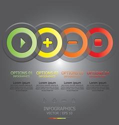 Modern circle template vector