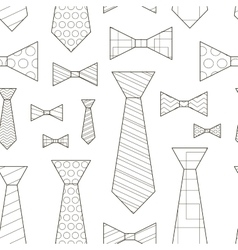 Pattern of Ties and Bow Ties vector image