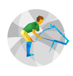 Physically disabled horseman flat sport icon vector