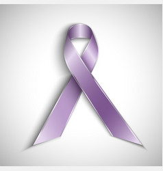 purple ribbon isolated on white background vector image vector image