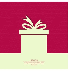 Ribbon in the form of gift vector image vector image