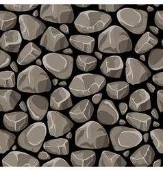 Rock stone seamless pattern vector