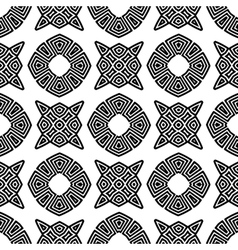 Seamless Geometric Greek Ornament vector image