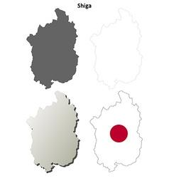 Shiga blank outline map set vector