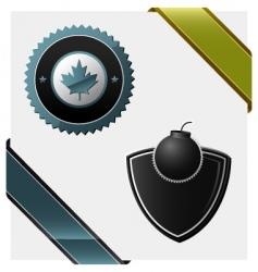 signs heraldic symbols logos vector image