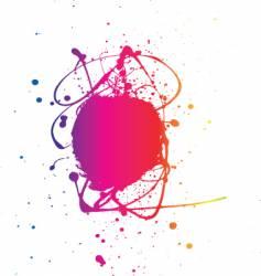 splat neon vector image vector image