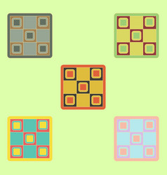 Twister game party board game collection vector