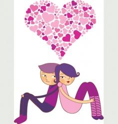 valentines couple vector image