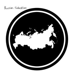 White map of russian federation on vector