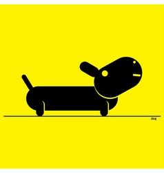 - stylized black dog vector image vector image