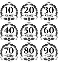 10 100 anniversary oak wreath icon2 vector