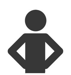 Man pictogram icon vector