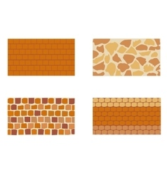 Different kinds of Stone brick wall vector image