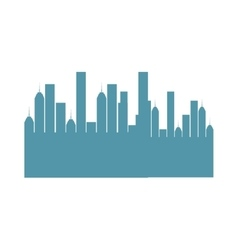 Cityscape sky line isolated icon vector
