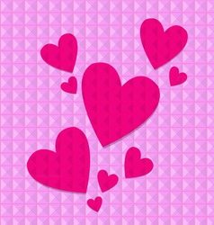 Shocking pink hearts vector