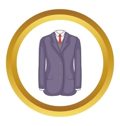 Men suit icon vector