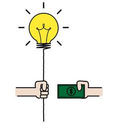 Dealing between idea and money vector
