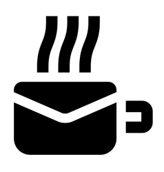 Morning mail icon vector
