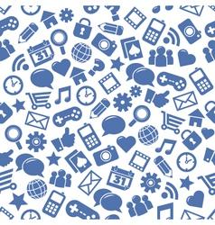 Seamless Social Media Patterns vector image