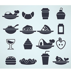 Food silhouettes vector