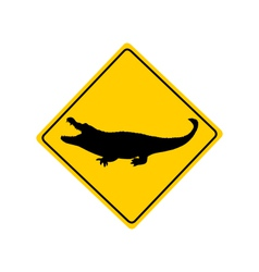 Crocodile warning sign vector