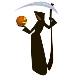 Death and pumpkin vector