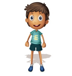 3D of a boy vector image vector image
