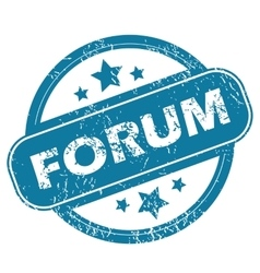 Forum round stamp vector