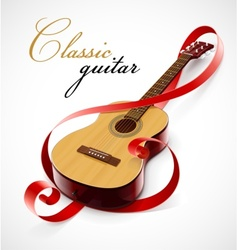 Classic guitar as clef simbol vector