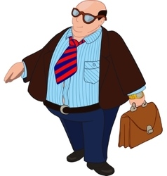 Fat bald boss vector