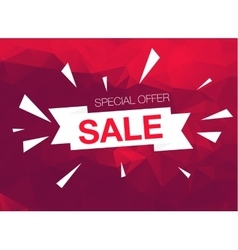 Super sale special offer banner on red background vector