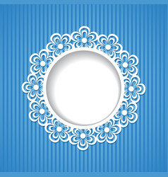 background with a floral frame vector image vector image
